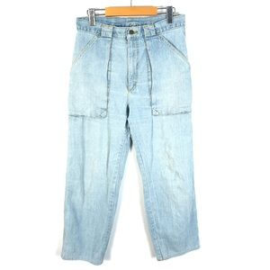 Vintage Lee super high waist crop jeans 34x26
